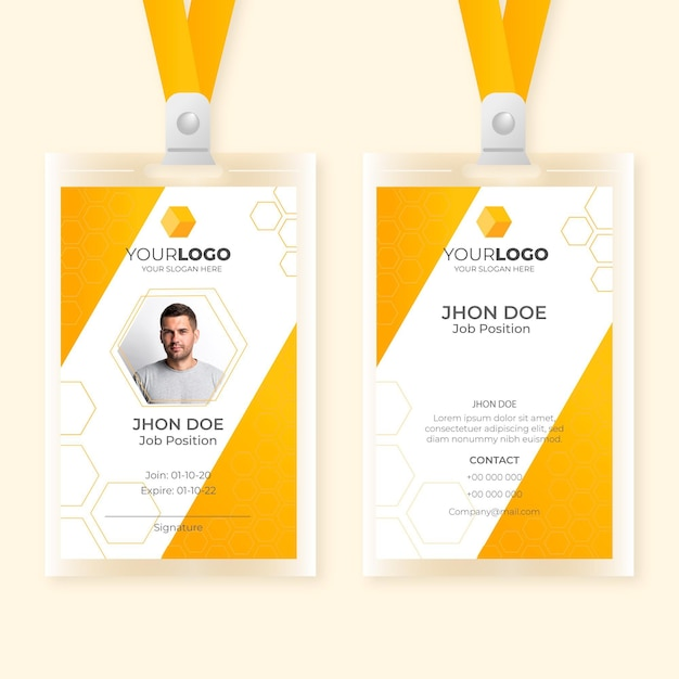 Abstract id cards template Free Vector