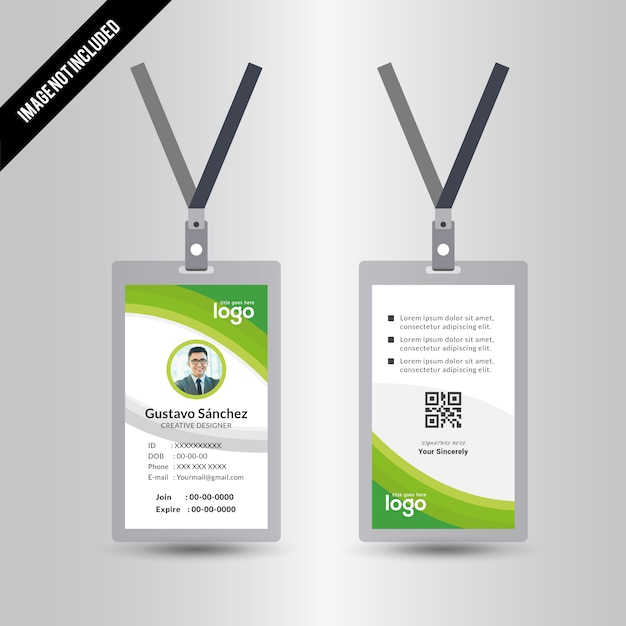 Abstract Identification or id Card Vector Design Premium Vector