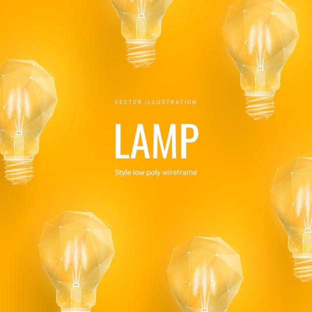 Абстрактная иллюстрация лампочки Premium векторы