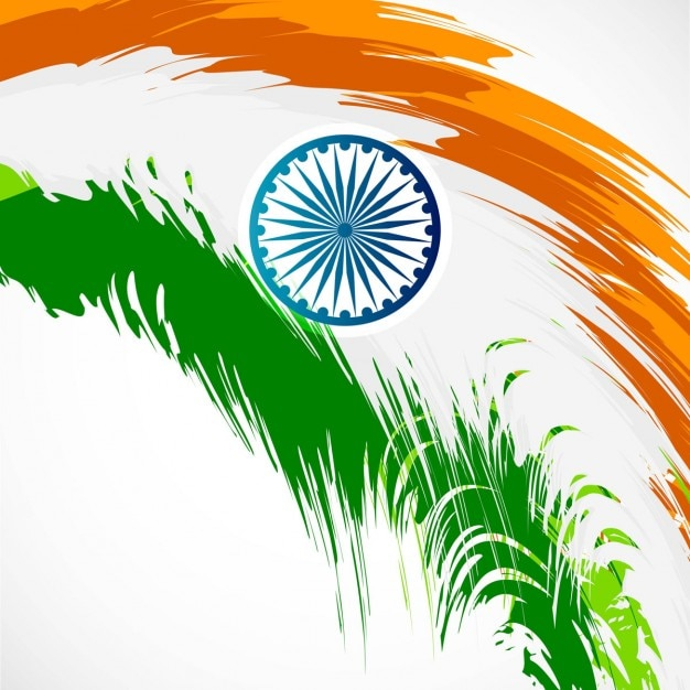 abstract indian flag design vector free download