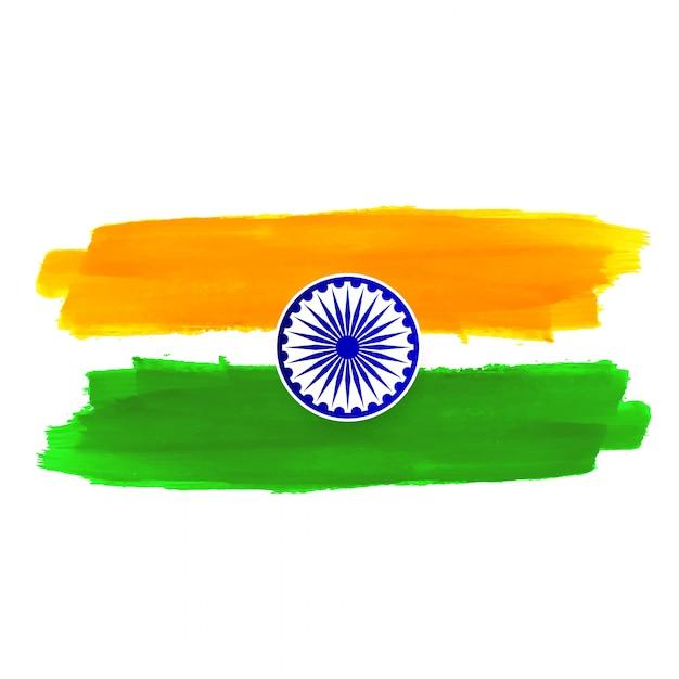 Fondo indiano astratto di progettazione di tema della bandiera Vettore gratuito