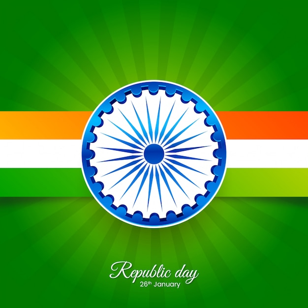 Abstract indian republic day Premium Vector