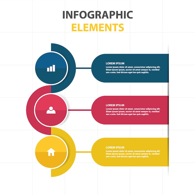 Abstract infographic business template Free Vector