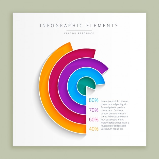 Abstract infographic design template Free Vector