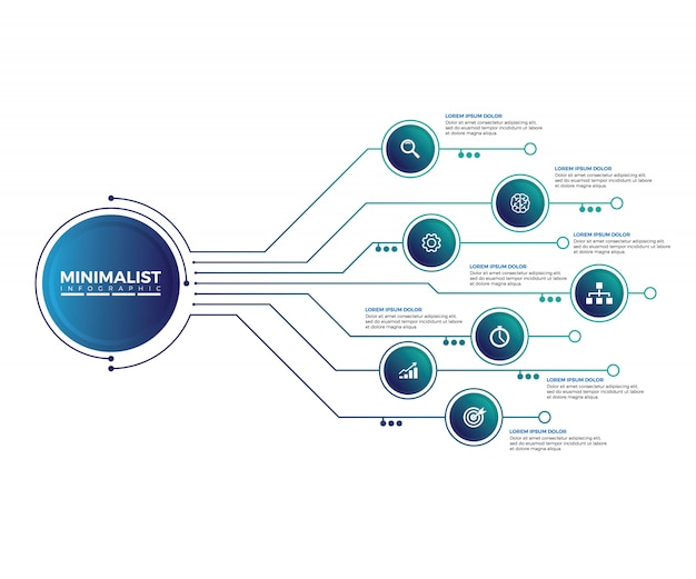Abstract infographic design template. Premium Vector