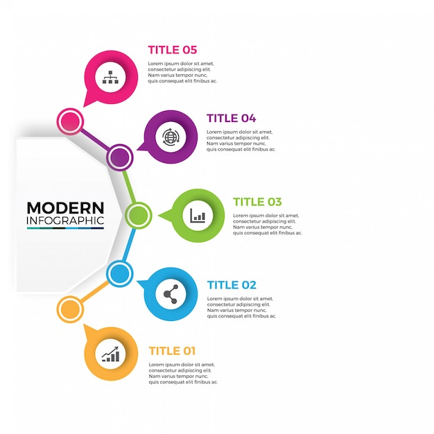 Abstract infographic design template Premium Vector