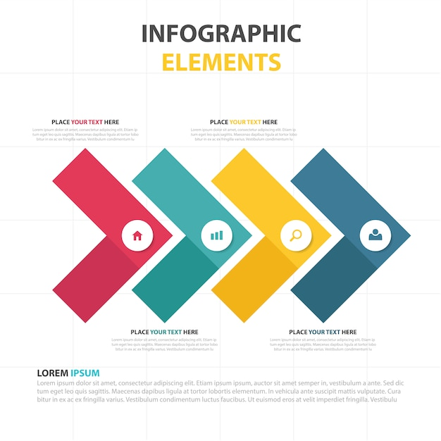 Abstract infographic elements Free Vector