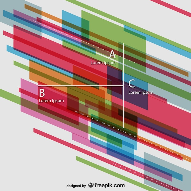 Abstract infographic template Free Vector