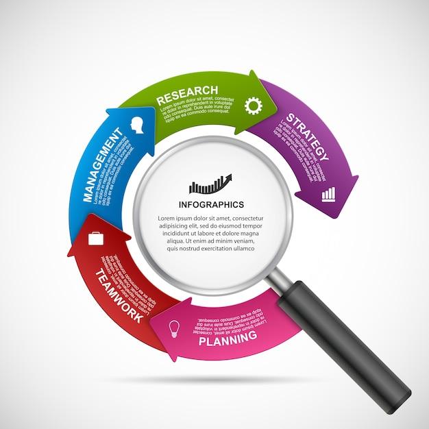 Abstract infographics design template. Premium Vector