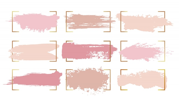 Abstract ink paint brush strokes Free Vector