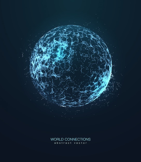 Abstract isolated triangle planet Premium Vector
