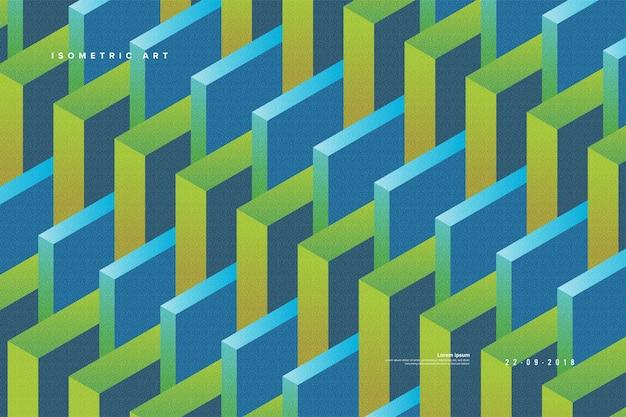 Абстрактный изометрический фон в векторе Premium векторы