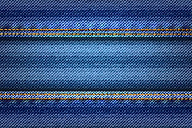 Abstract jean denim texture fabric as background. Premium Vector