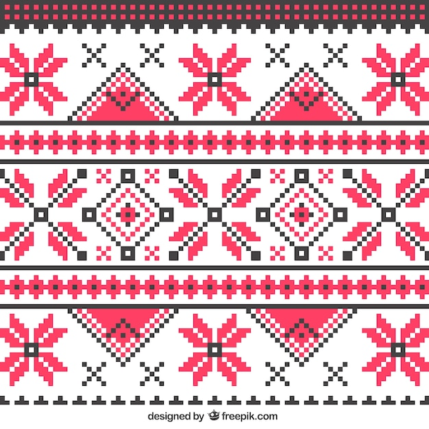 Knitting Vector Patterns : Abstract knitting pattern vector premium download