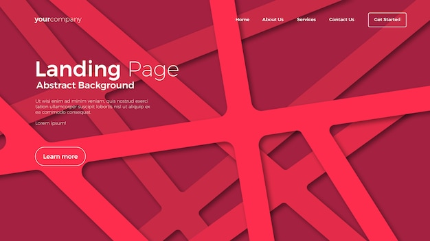 Abstract landing page backgrounds Premium Vector