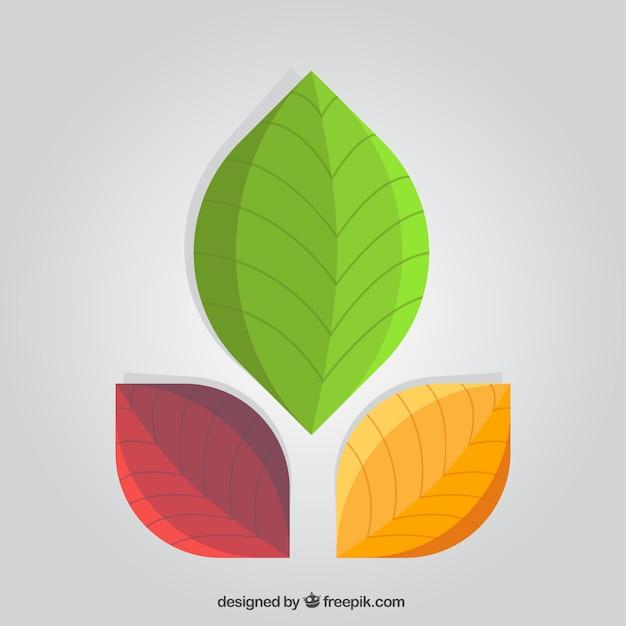 Abstract leaves logo Free Vector
