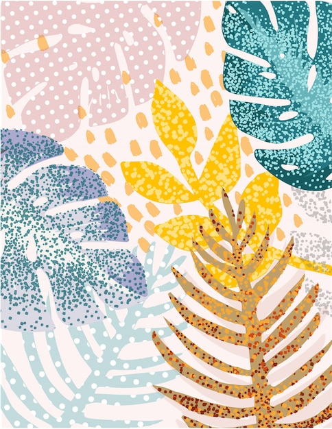 Abstract leaves Premium Vector