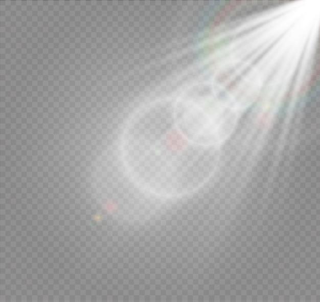 Абстрактные линзы золотые передние солнечные блики прозрачный специальный световой эффект Premium векторы