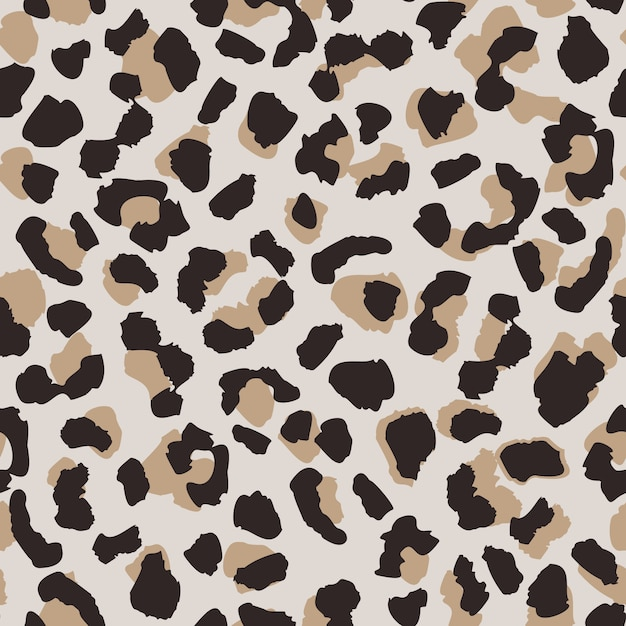 Abstract leopard skin seamless pattern. Premium Vector