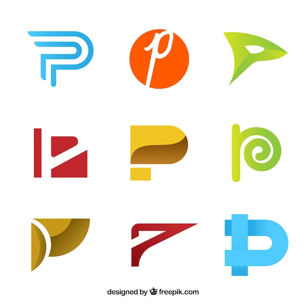 Abstract letter c logo collection Premium Vector