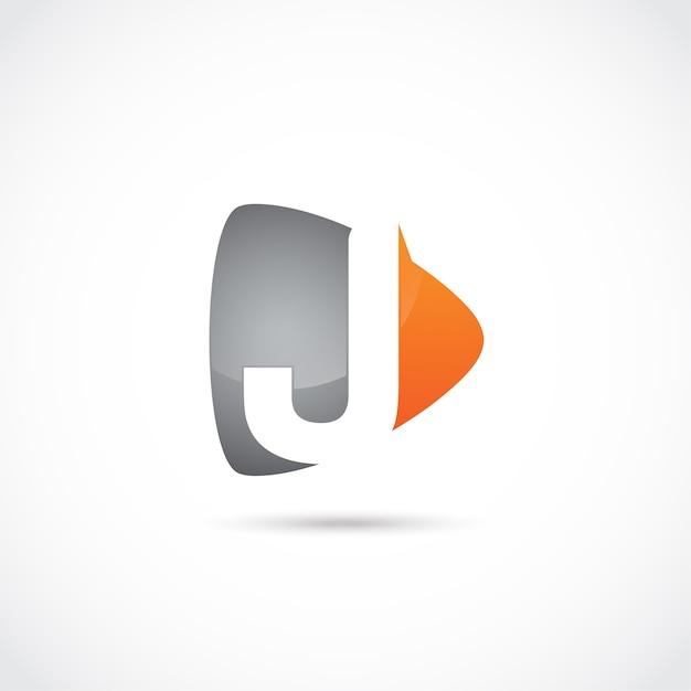 Abstract letter j logo design Premium Vector
