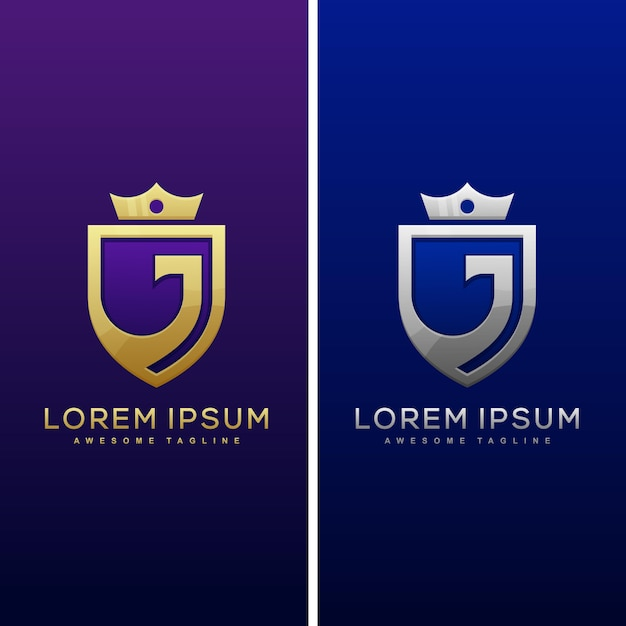 Абстрактная буква j luxury badge Premium векторы