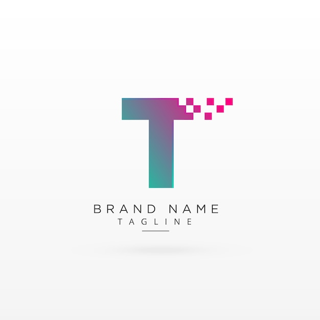 Abstract letter t logo design Vector | Premium Download