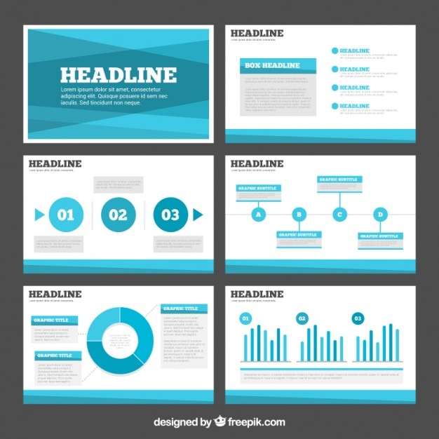 Abstract Light Blue Business Presentation Vector Free