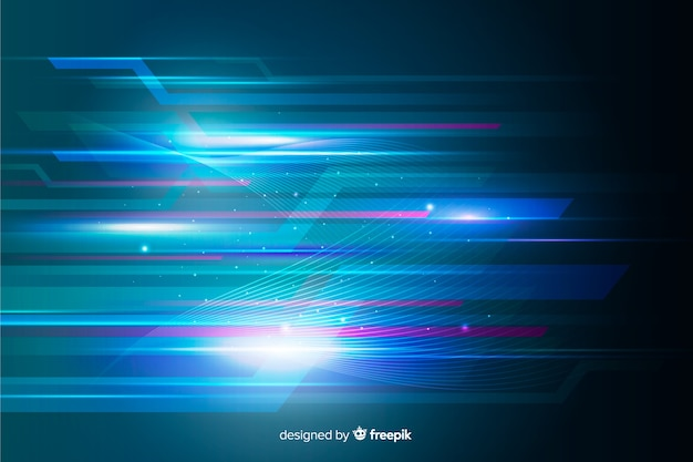 Abstract light movement background Free Vector