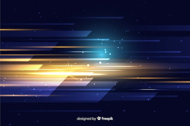Abstract light movement wallpaper Free Vector