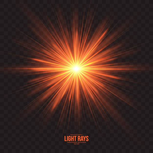 Abstract light rays effect vector background Premium Vector