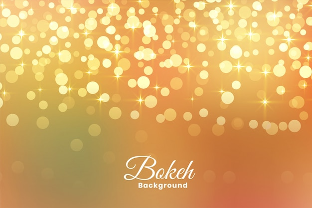 Abstract light shimmer golden background Free Vector