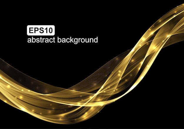Abstract light wave futuristic background. Premium Vector