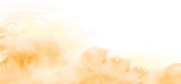 Абстрактная светло-желто-оранжевая акварельная текстура для фона Premium векторы