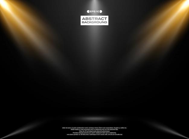 Abstract of lights studio room Premium Vector