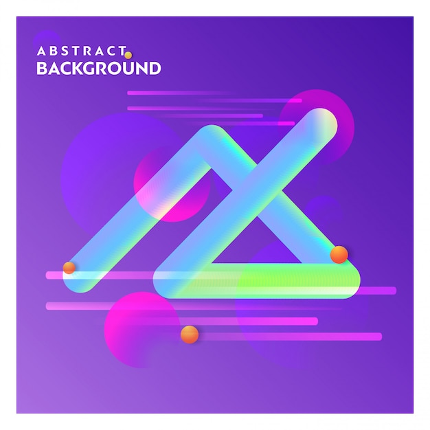 Abstract line background with purple background vector Free Vector
