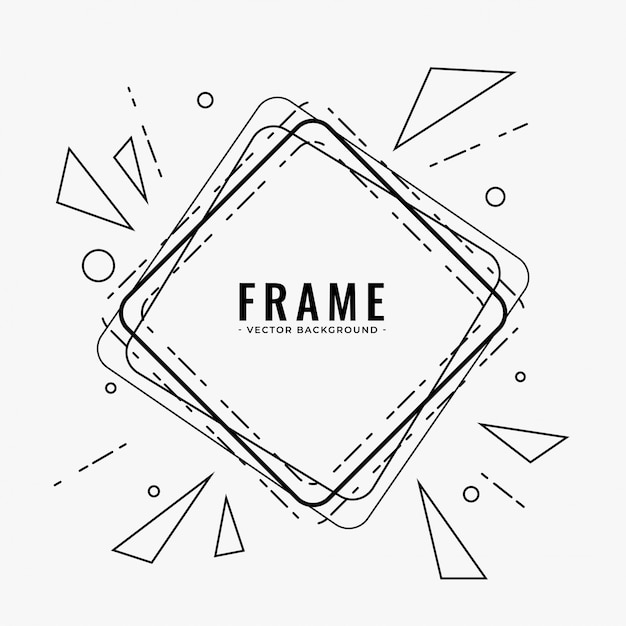 Abstract line frame design background Free Vector