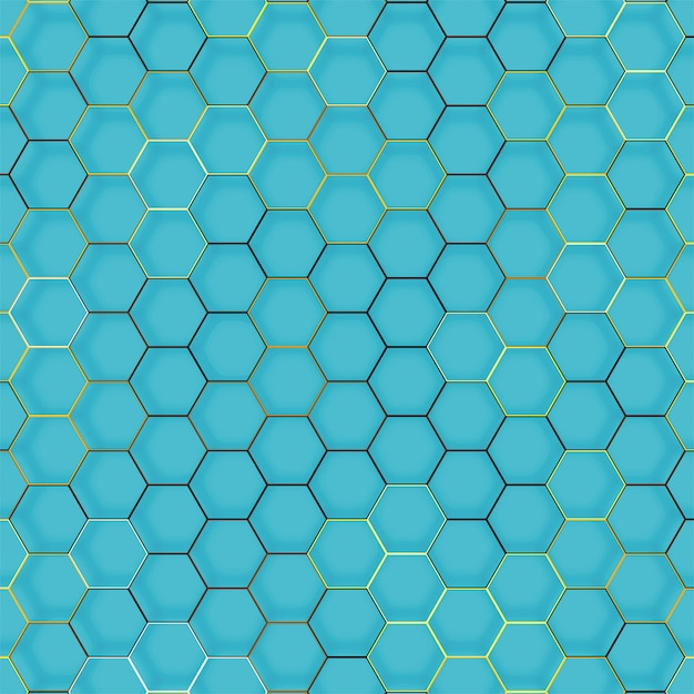 Abstract line hexagon geometric texture Free Vector