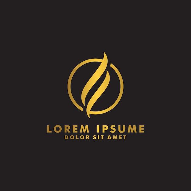Abstract line logo design vector Premium Vector