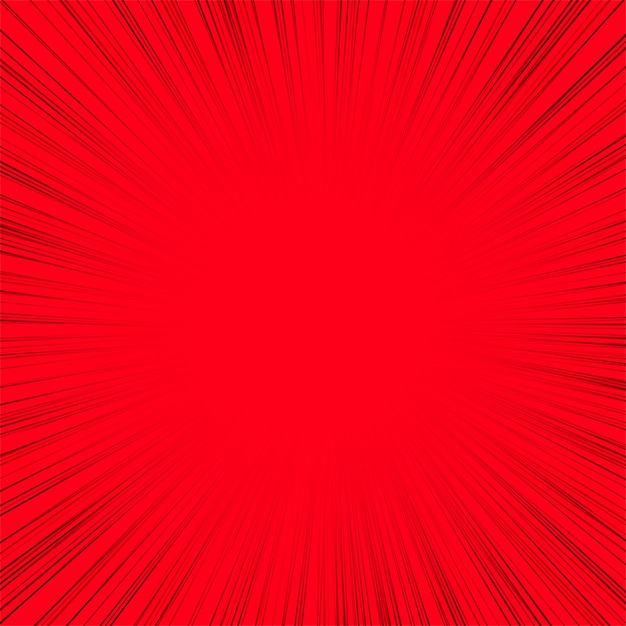 Abstract line rays red background Free Vector