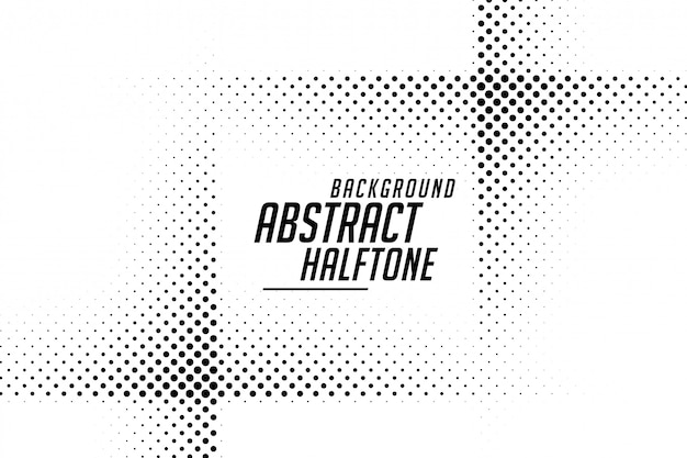 Abstract line style halftone black and white background Free Vector