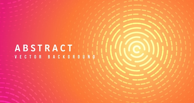 Premium Vector Abstract Lines Circle With Yellow Red Gradient Background