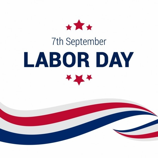 Abstract lines labor day background