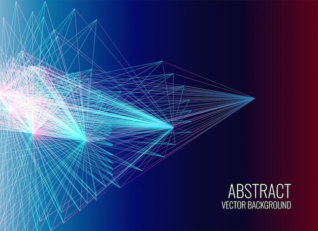 Abstract lines mesh vector background Free Vector