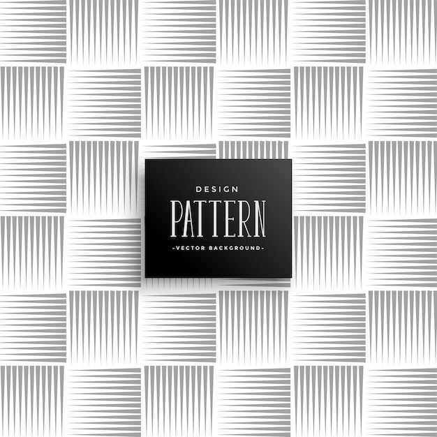Abstract lines pattern in horizontal and vertical style Free Vector