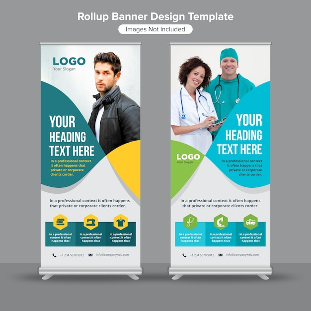 Abstract lines roll up banner design Premium Vector