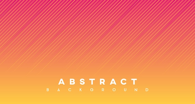Premium Vector Abstract Lines With Red Yellow Gradient Background