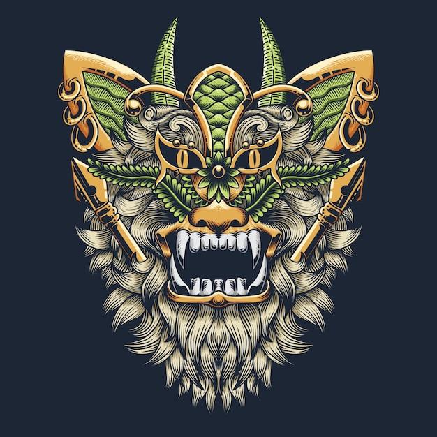 Abstract lion illustration Premium Vector