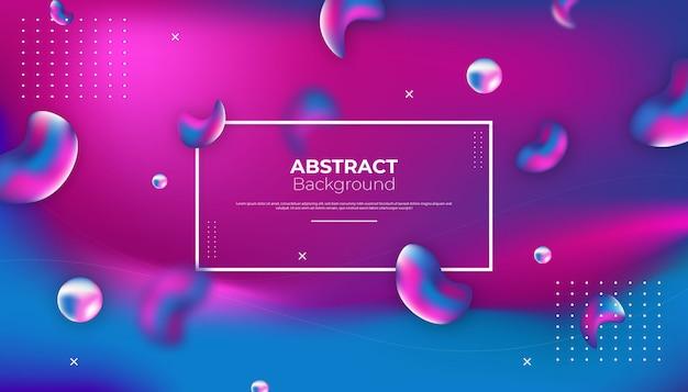 Abstract liquid background design Premium Vector