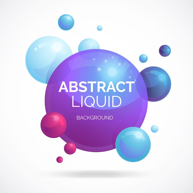 Abstract liquid background Free Vector